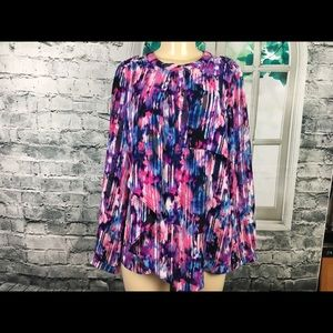 Ny Collection Multicolored Blouse Medium